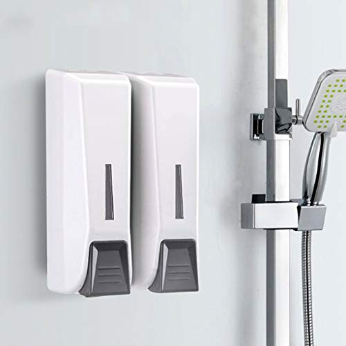 Better Living Products Distributeur de savon de salle de bains et distributeur de douche gratuit Distributeur de savon et de savon dans la chambre TRIO2 Shampooing pour mur (Color : Red)