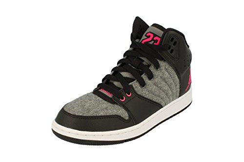 Nike Air Jordan 1 Flight 4 Prem GG Hi Top Trainers 828245 Sneakers Shoes (UK 4.5 us 5Y EU 37.5, Cool Grey Vivid Pink 019)