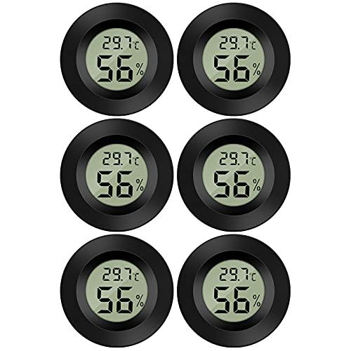 Thlevel 6x Mini LCD Digital Thermometer Temperatur Luftfeuchtigkeit Tester Hygrometer für Kühlschrank Aquarium -50°C~ 70°C (6 PCS B)