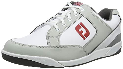 Footjoy Herren Fj Originals Golfschuhe, Weiß (Blanco/Gris 45348), 42.5 EU