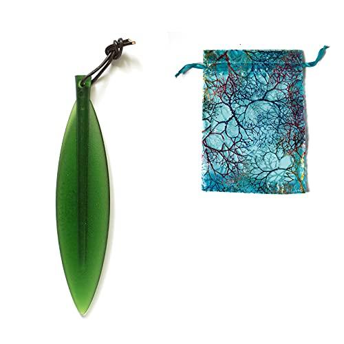 Leaf Shape Design Letter Opener,Easy to Cut Not Hurting Hands Envelope Slitter,Ergonomic Envelope Opener,Will Not Damage The Paper,Creative Office Gift Crafts (1 Green)
