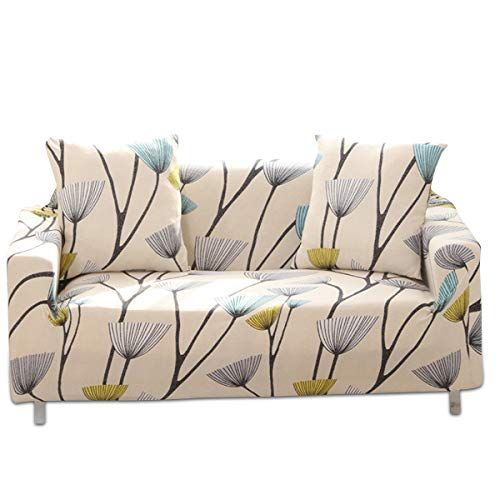 PETCUTE Funda de sofá elástica 3 plazas Fundas elasticas para Sofas Fundas Ajustables para sillón Sofas con Estampado de Flores