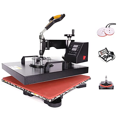 Z ZELUS Heat Press Machine 38 X 38 cm 5 in 1 Multifunctional Heat Press 360...
