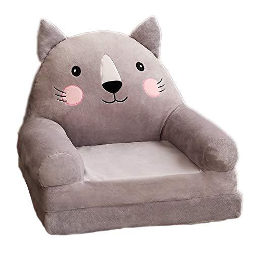 BLWX LY kinderbank stoel, zachte pluche peuter fauteuil, schattige cartoon vorm, opvouwbare kinderschuim stoel, voor slaapkamer, woonkamer, eetkamer