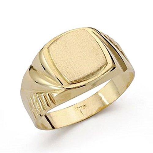 Sello oro 18k cadete tallado. Recomendado para niños o uso en el dedo meñique. - Personalizable - GRABACIÓN INCLUIDA EN EL PRECIO