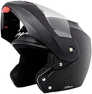 Vega Crux CRX BM Flip-up Helmet Clear Visor (Black, Medium)