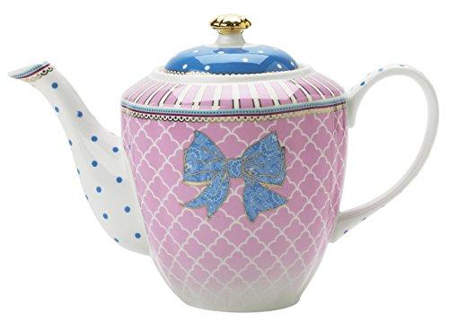 Lisbeth Dahl Bowie Teekanne/ Kaffeekanne aus Porzellan im Shabby Granny Style. Teebereiter, Kanne, Kaffeebereiter