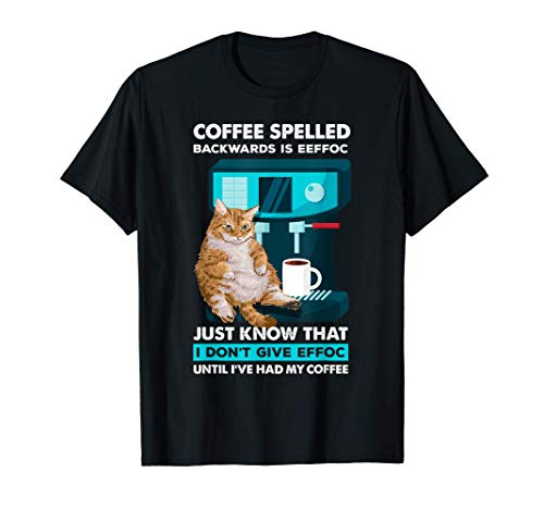 Divertida máquina de espresso y taza de gato para los Camiseta
