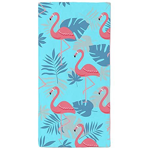 onetoze Toalla de Playa Flamencos Toallas de Acampada Mujer Infantiles Toallas para Piscina Natación Seque Rápidamente, Absorbente Toallas Ducha Viaje Picnic, 90x180cm