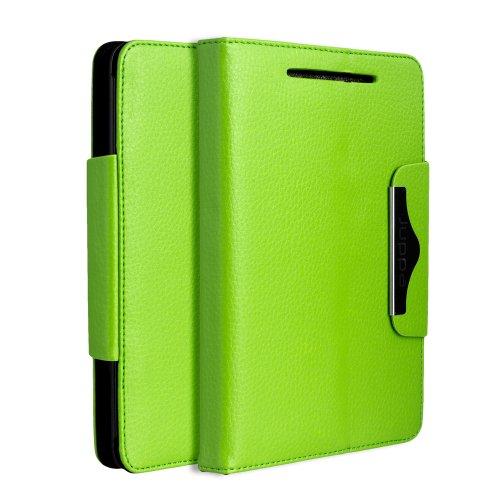Juppa® Executive Ledertasche umfasst Ständer Feature, Displayschutzfolie und Eingabestift Kugelschreiber für Google Nexus 7 Tablet - Grün