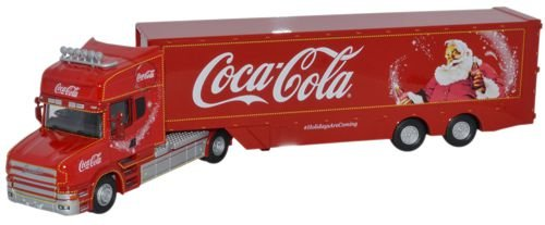 Coca-Cola Oxford Diecast 76TCAB004CC T Cab Box Trailer