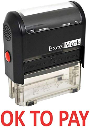 OK to Pay - ExcelMark Self-Inking Rubber Stamp - A1539 Red Ink