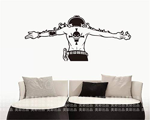 Wandtattoo Wohnzimmer One Piece Ace Car Japanese Decals Decal Sticker Home Decoration for living room boys bedroom