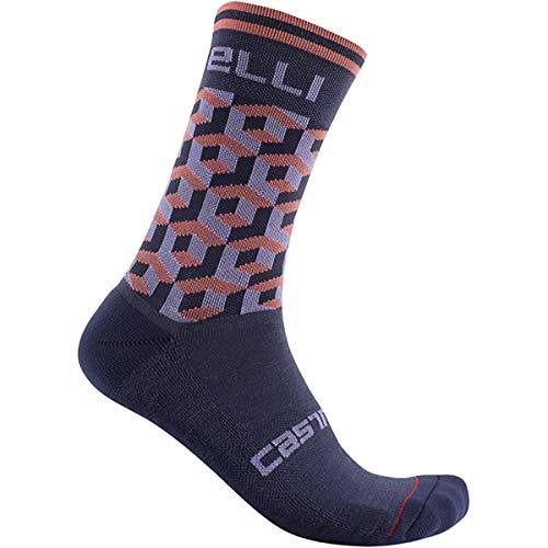 CASTELLI Cubi W 15 Sock - Calcetines para mujer, color azul brillante, talla L/XL
