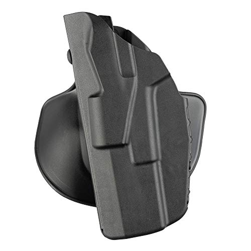 Safariland 7378, ALS Concealment Paddle and Belt Loop Combo Holster, Fits: Glock 43, Black - STX Plain, Left Hand