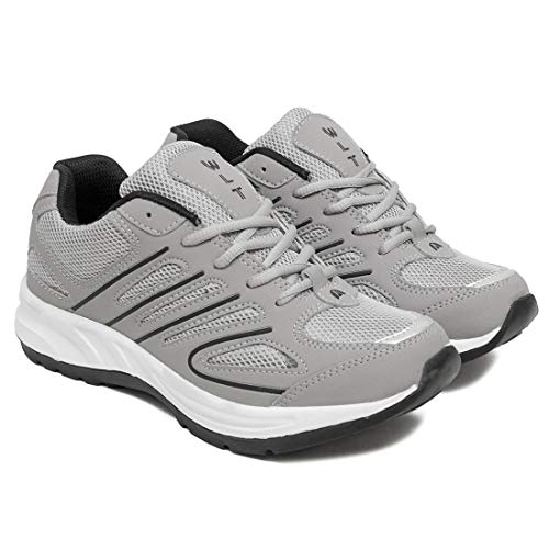ASIAN Men's Bullet-02 Grey Black Walking,Sports,Gym,Running Shoes UK-6
