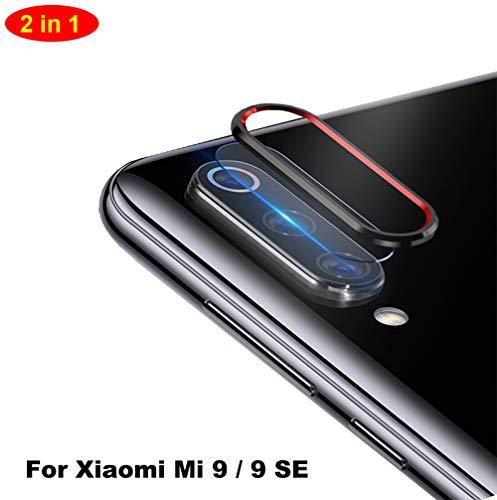NOKOER Della Camera Lens Protector per Xiaomi Mi 9 SE, [2 in 1] Fotocamera Protezione Anello + Pellicola Protettiva per L'obiettivo, 360 Gradi Proteggi la Fotocamera Posteriore - Nero