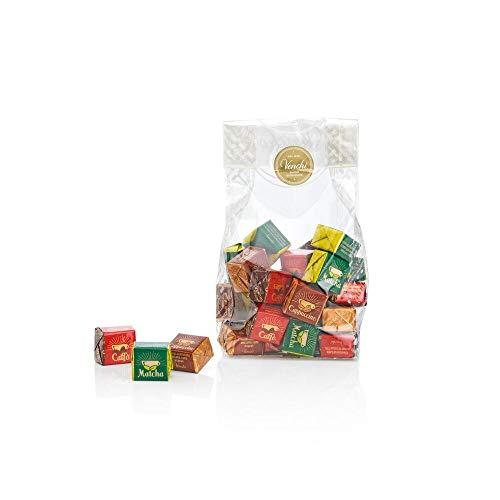 Geschenkbeutel Buongiorno, 300 g – Pralinen mit dem Geschmack von Espresso, Cappuccino und Matcha – glutenfrei