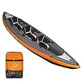 WMQ Kayak, Canoa Inflable 1/2/3 Personas, Kayak Inflable, Canoa con Cubierta Exterior de PVC Resistente, Incluye construcción de Puente para una Alta Estabilidad en el Agua