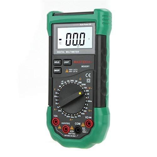 MASTECH MS8261 DMM Digital Multimeters Current Resistance Capacitance & hFE Test