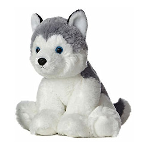 Aurora 50269 Plush Toy, Husky, 14' Tall, Grey