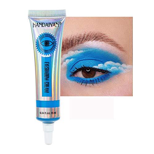 324/5000 GL-Turelifes Matte Eyeshadow Cream Sombra de ojos líquida Bueno para ojos ahumados Aplicar rápidamente Halloween y Cosplay Sombra de ojos de larga duración para todo el día (#09 azul cielo)