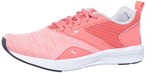 Puma NRGY komeet Jr Kinder lage laarzen Sneaker Sportschuhe Calypso Coral-Weiss