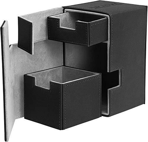 Ultimate Guard UGD010372 - Flip und Tray Deck Case 100+ Standardgröße Xeno Skin, schwarz