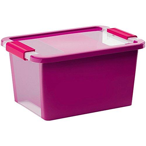 KIS Aufbewahrungsbox Bi Box 11 Liter in violett-transparent, Plastik, 36.5x26x19 cm
