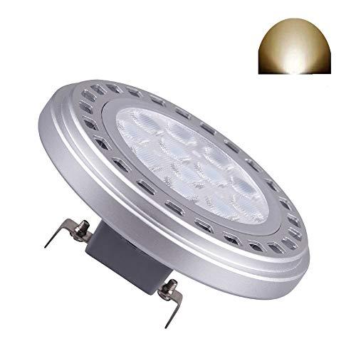 Led AR111 Lampadina G53 Faretto 15W 30 ° Beam View Angle Day Light 4000k SMD 15LEDs Imput AC DC 12V ES111 QR Spot Reflector Luci di pista 1200Lm 100w Lampada alogena di ricambio