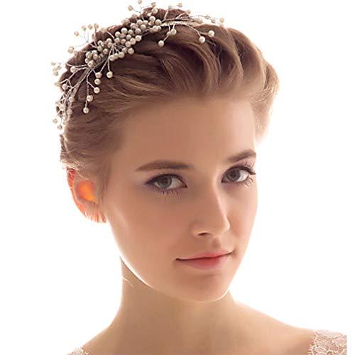 Brautfrisur, Perle, Haarband, Hochzeit, Diadem, Schmuck