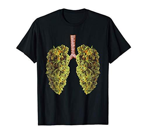 Funny Weed Lung Marijuana Bud T-Shirt - THC Lung TShirt Maglietta