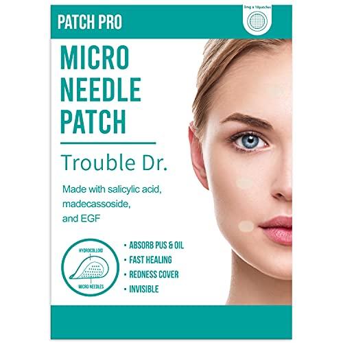 PATCH PRO Trouble Dr. Microneedle Patch 18pcs Cerotto contro i brufoli, le macchie e per aumentare la cura della pelle con l'acido salicilico ed il madecassoside.