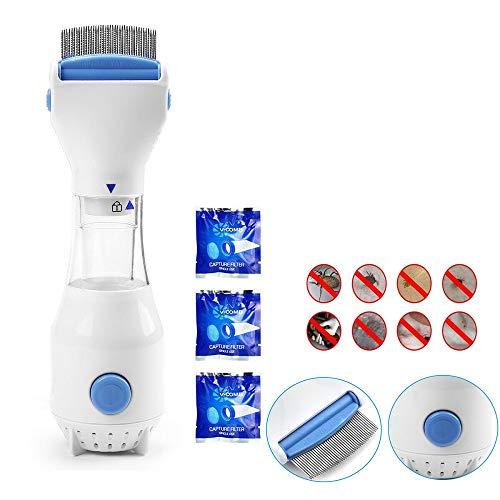 Heyaokun Eliminador de Cabeza automático electrónico Tratamiento Limpiador de piojos eléctrico para...