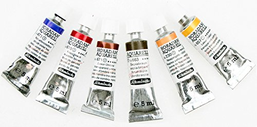 Schmincke Horadam artists Watercolour Skin Tones Mixing Set (6 x 5ml tubes)