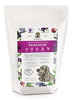Dr Harvey s Paradigm Green Superfood Dog Food Human Grade Dehydrated Grain Free Base Mix for Dogs Diabetic Low Carb Ketogenic Diet  3 Pounds
