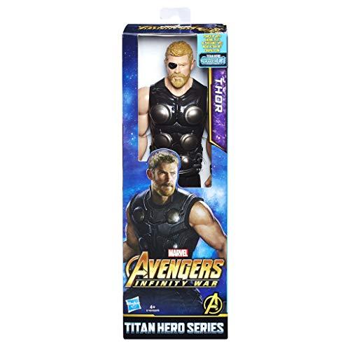 Avengers E1424EL2Marvel Infinity War Pupazzetto di Thor con Porta di connessione Titan Hero Power FX