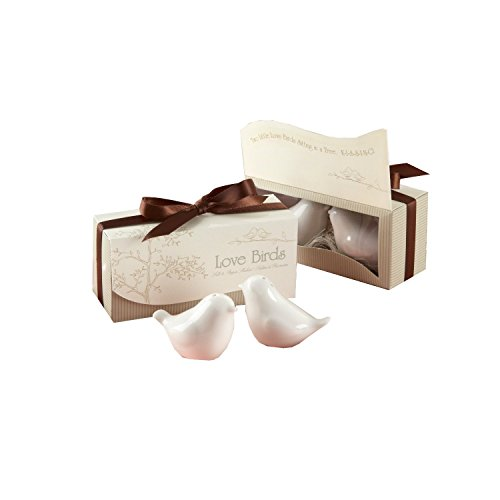 Love Birds Ceramic Salt & Pepper Shakers Wedding Favors, Set of 48