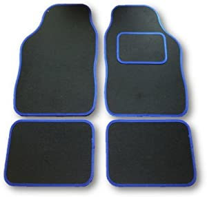 PIECE UNIVERSAL CAR MAT SET BLUE TRIM