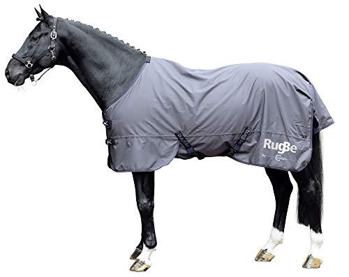 Kerbl Outdoordecke RugBe Zero, Pferdedecke Weidedecke Regendecke, Grau 135 cm