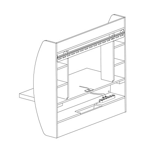 Product Image 6: Prepac Wall Mounted Floating Desk with Storage, Espresso