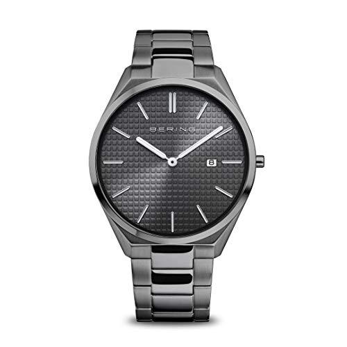 Bering Reloj analógico de cuarzo para hombre con correa de acero inoxidable 17240-777