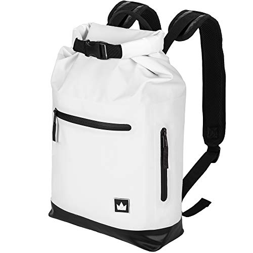 "The Friendly Swede City Backpack with 13"" Laptop Pocket - ""GRANEBERG"" - Urban Street Smart, Waterproof - 15L (White)"
