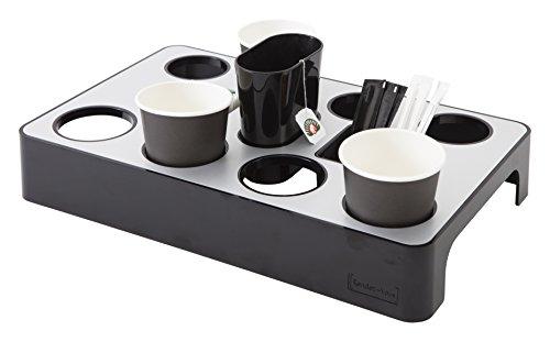 ALBA Spender Universal-Kaffeepads Aluminium Grau Metall und schwarz, Aluminium, Gris métal et Noir, 37,5 x 23 x 5,7 cm