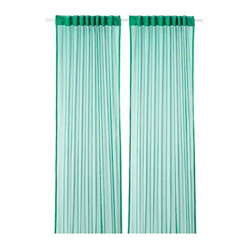 IKEA Gratistel Lace Curtains 1 Pair Green 304.280.72 Size 57x98