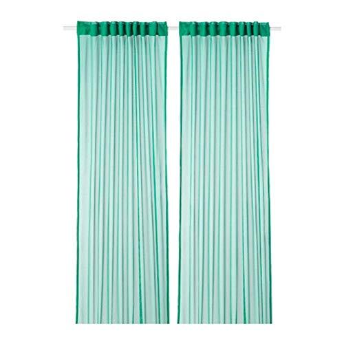 Ikea Gratistel Spitzengardine 1 Paar grün 304.280.72 Größe 57x98