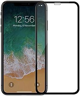 غطاء كامل من الزجاج المقسى 9 دي المضاد للانفجار تساعي الابعاد واقي لشاشة هاتف ايفون اكس ماكس 6.5 بوصة مع اطار اسود مع صندوق التعبئة الامن المستخدم من دوين