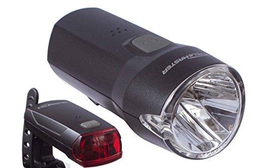 CycleMaster® LED Fahrrad Lampenset Rückleuchte OSRAM® Frontleuchte - Schwarz