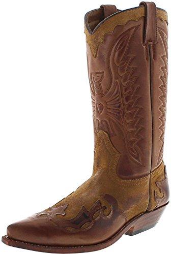 FB Fashion Boots Herren Cowboy Stiefel 670 Whisky Westernstiefel Braun Primeboots 45 EU