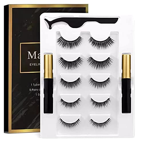 Magnetic Eyelashes, Magnetic Eyelash kit, Magnetic Eyelashes Kit With Liquid Eyeliner – Soft and Bold Natural Look – Comfortable False Eyelashes For All Skin Types – Easy To Apply and Remove – Long Lasting and Reliable Eyelash Extension